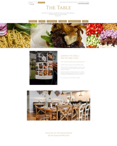 The Table Deltaville Website Design | startsmall. THINKBIG!